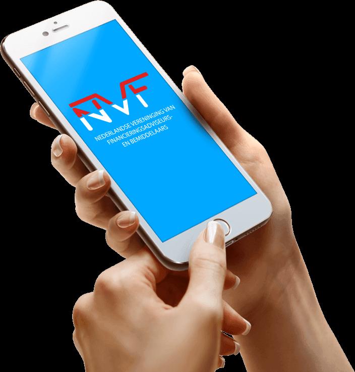 mobiel met logo